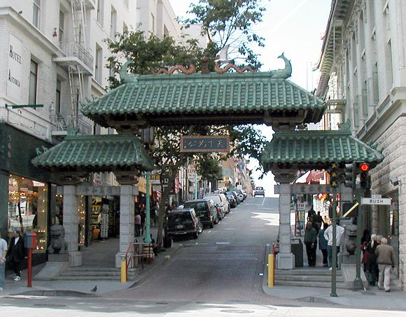 Chinatown San Francisco Night. Chinatown Gate
